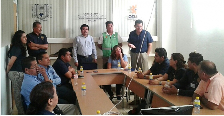 CEUNE - UNACH, un aliado permanente de la Protección Civil - Participa en el simulacro estatal el próximo 20 de Marzo.