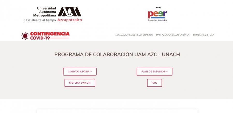 PROGRAMA DE COLABORACIÓN UNACH - UAM AZC