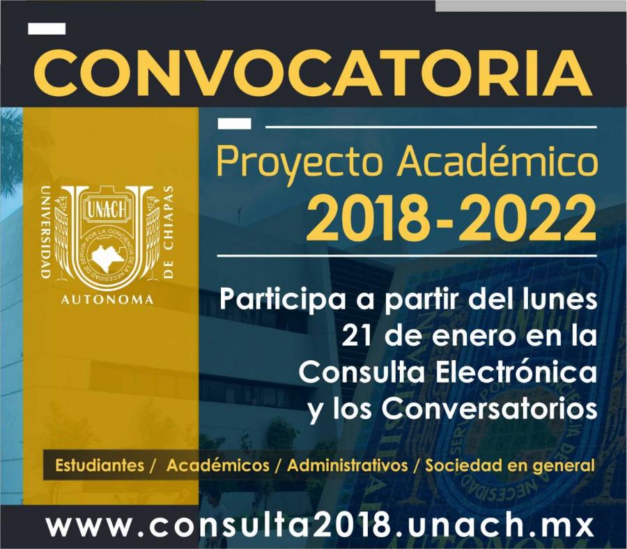 Convocatoria Proyecto Académico 2018 - 2022