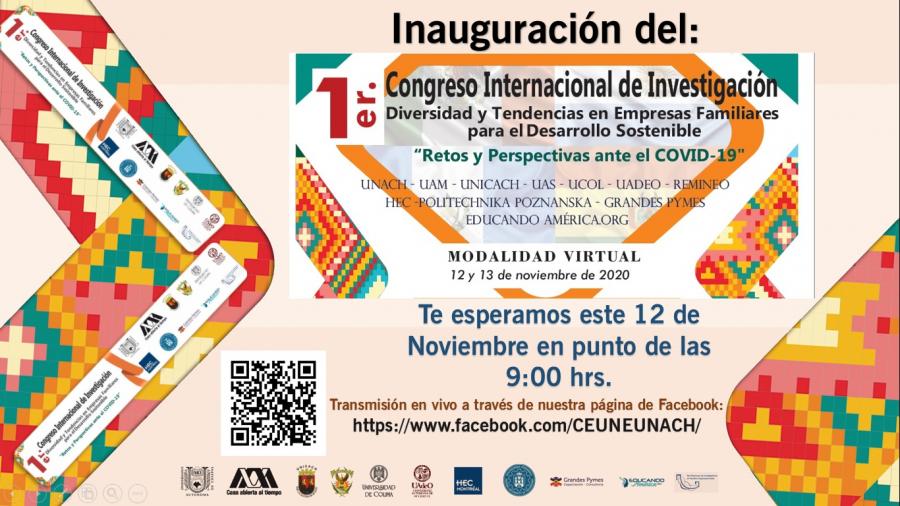 1er. Congreso Internacional de Investigación. Diversidad y Tendencias en Empresas Familiares para el Desarrollo Sostenible Retos y Perspectivas ante el COVID-19.