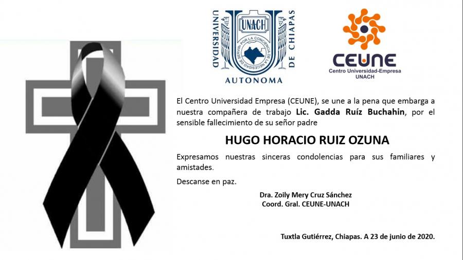 Expresamos nuestras condolencias a nuestra compañera y amiga Lic. Gadda Ruíz Buchahin.