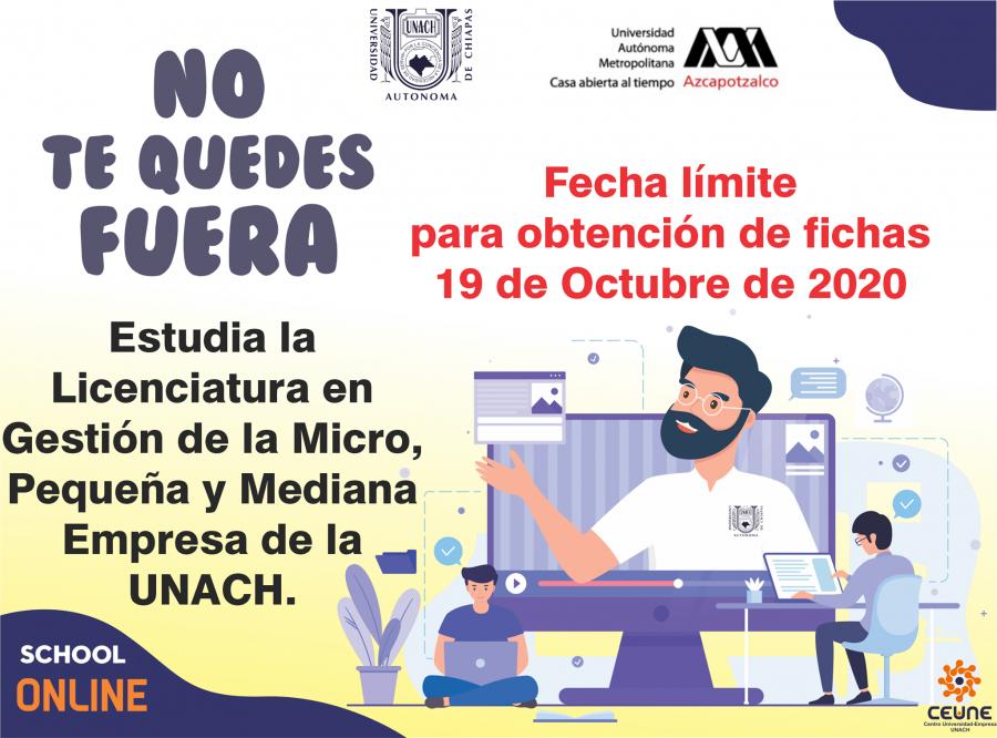 La Universidad Autónoma de Chiapas, a través del Centro Universidad Empresa, te invita a estudiar la Licenciatura en Gestión de la Micro, Pequeña y Mediana Empresa.